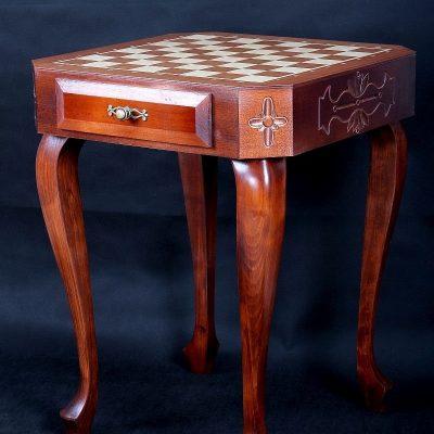 338-1-Plateau-échecs-pliant-plastique-marron-blanc