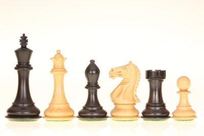 264-1-Jeux-Echecs-Staunton-6-Plastique-Creme-Noir-non-lesté