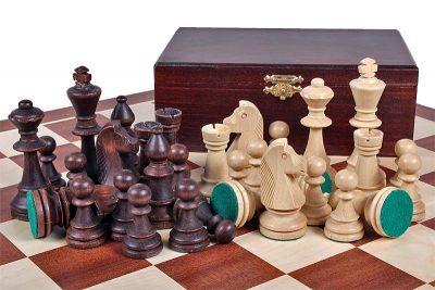 225-1-Jeux-Echecs-Dgt-officiel-FIDE-Bois-ébène-Buis-non-lesté